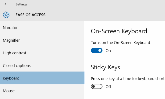 open on screen keyboard in Windows 10 pic5