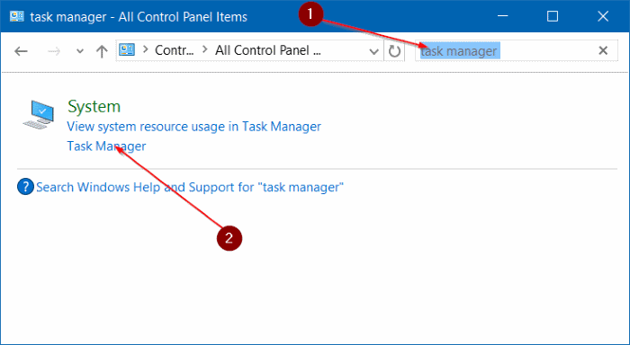 open task manager in Windows 10 pic7