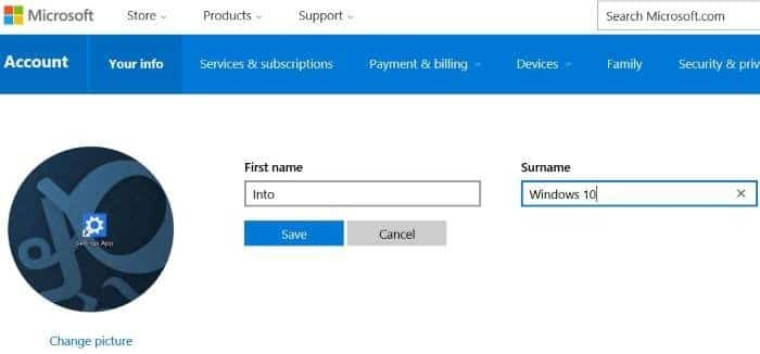 rename Microsoft or local account in Windows 10 step5