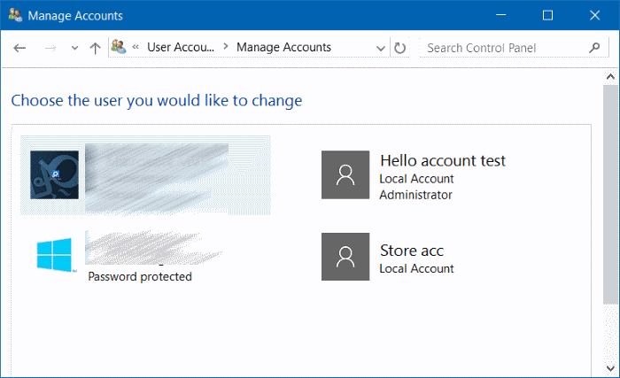 rename Microsoft or local account in Windows 10 step9