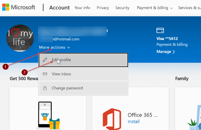 rename microsoft account in Windows 10 pic1