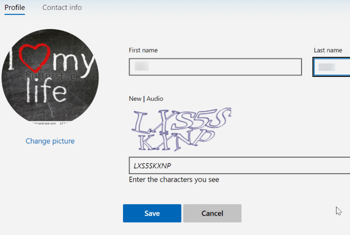 rename microsoft account in Windows 10 pic4