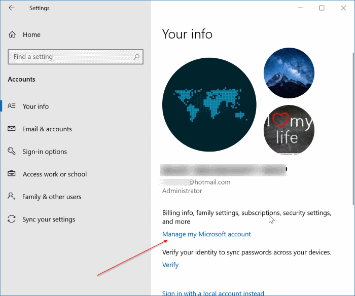 rename microsoft account in Windows 10 pic5