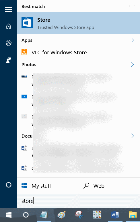 sign in to Store using a different email account in Windows 10 step1