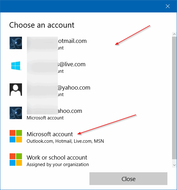sign in to Store using a different email account in Windows 10 step5