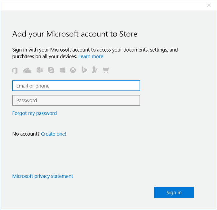sign in to Store using a different email account in Windows 10 step6