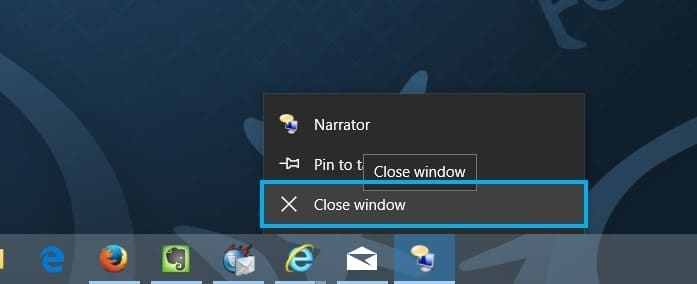 turn on or off narrator in Windows 10