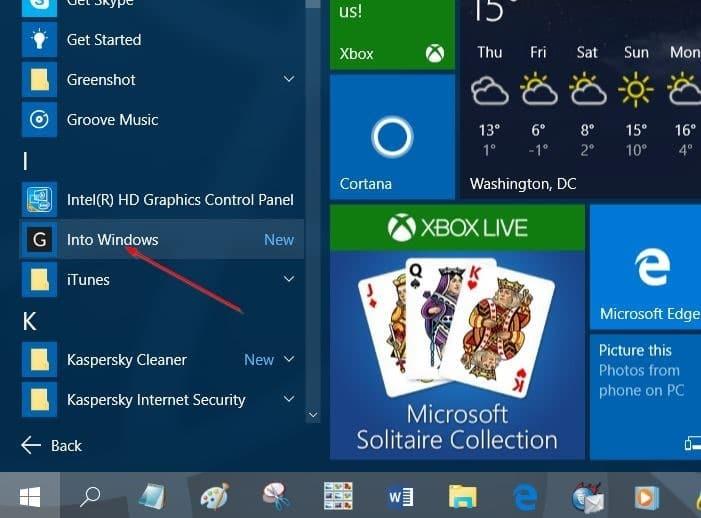 Pin websites to Start menu in Windows 10 step6