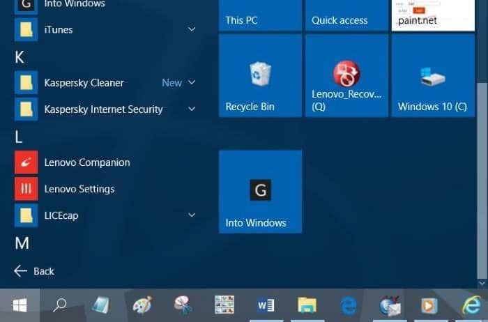 Pin websites to Start menu in Windows 10 step8