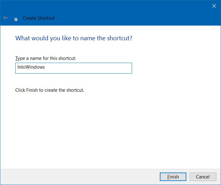 how to create website shortcut on desktop in windows 10