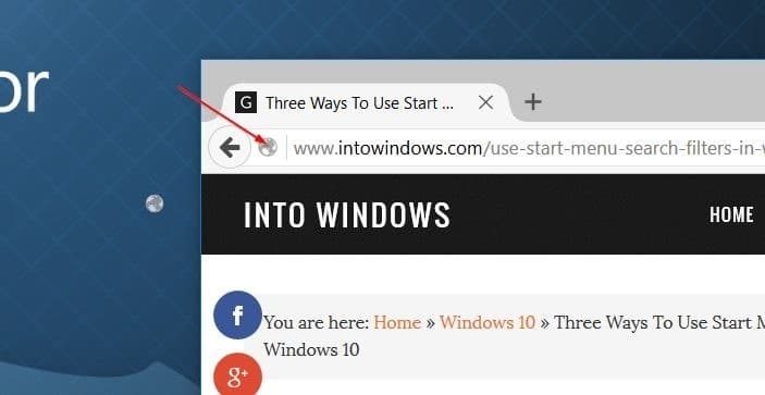 create website shortcut on desktop in Windows 10 step6