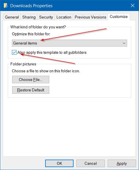 how to change downloads folder windows 10