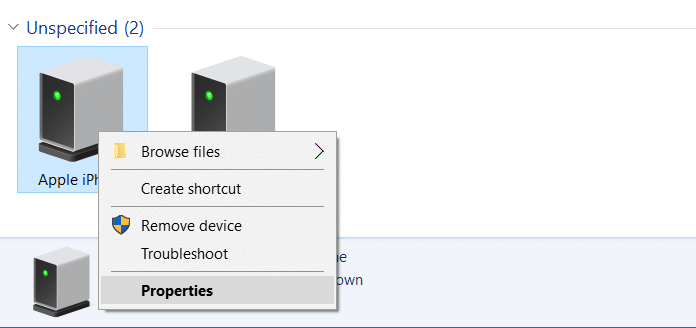 iphone not detected in Windows 10 step4