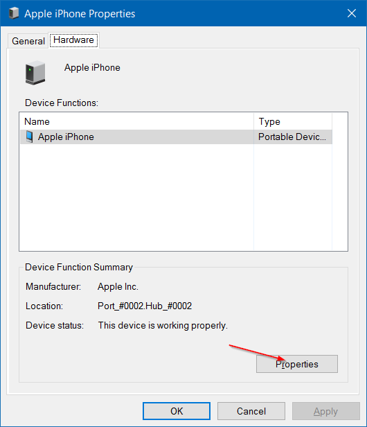 iphone not detected in Windows 10 step5