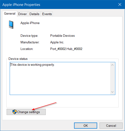 iphone not detected in Windows 10 step6
