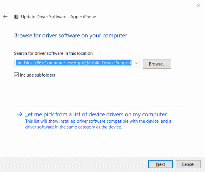 iphone not detected in Windows 10 step9