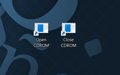keyboard shortcut to open CDDVD tray in Windows 10 pic3