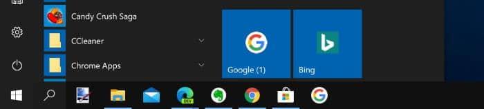 pin a website to Windows 10 start menu chrome edge pic01