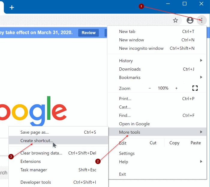 pin a website to Windows 10 start menu chrome edge pic4