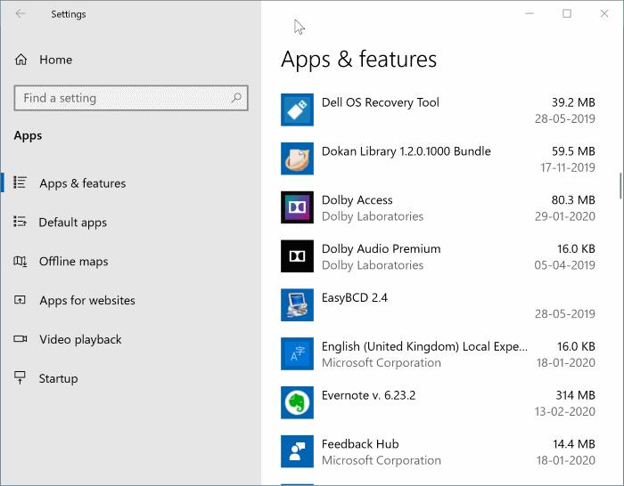 uninstall programs in Windows 10 pic01