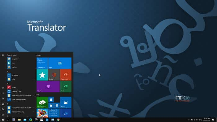 using start menu without the search box in Windows 10
