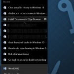 How To Clear Jump Lists In Windows 10
