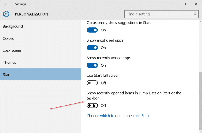 windows 10 how to clear recent list