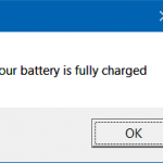 How To Get Full Battery Notification In Windows 10