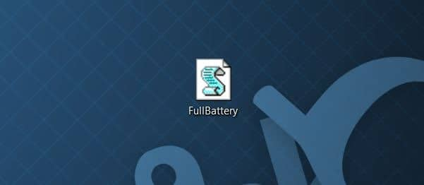 Get full battery notification in Windows 10 step