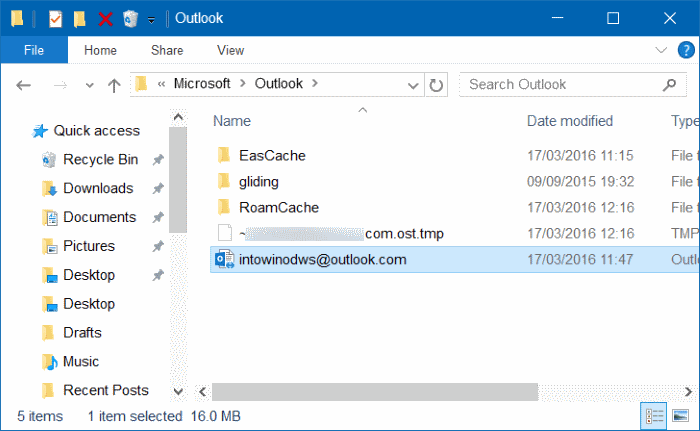 Outlook 2016 hangs at processing starting loading profile step4
