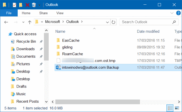 Outlook 2016 hangs at processing starting loading profile step5