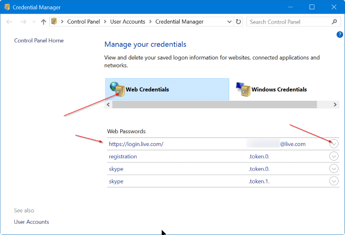 Recover passwords saved in Edge Browser step2