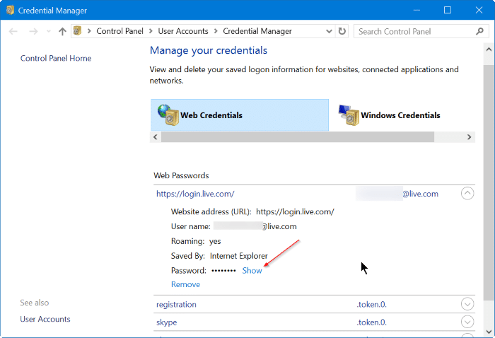 Recover passwords saved in Edge Browser step3