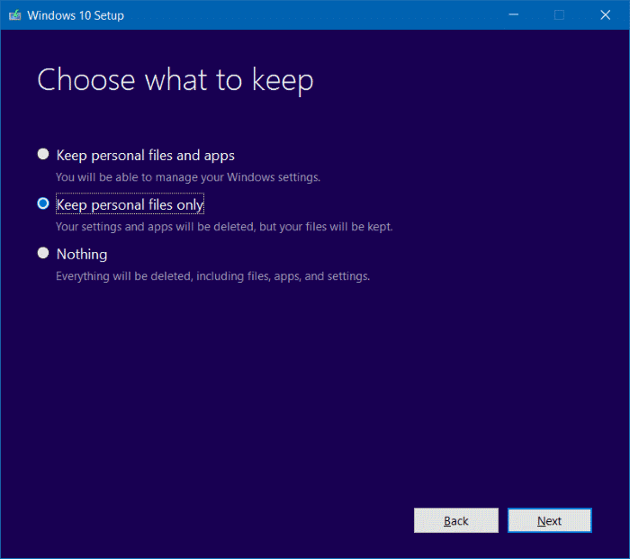 Reinstall Windows 10 without data loss step13