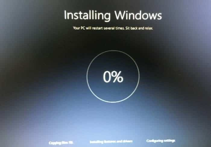 Reinstall Windows 10 without data loss step16