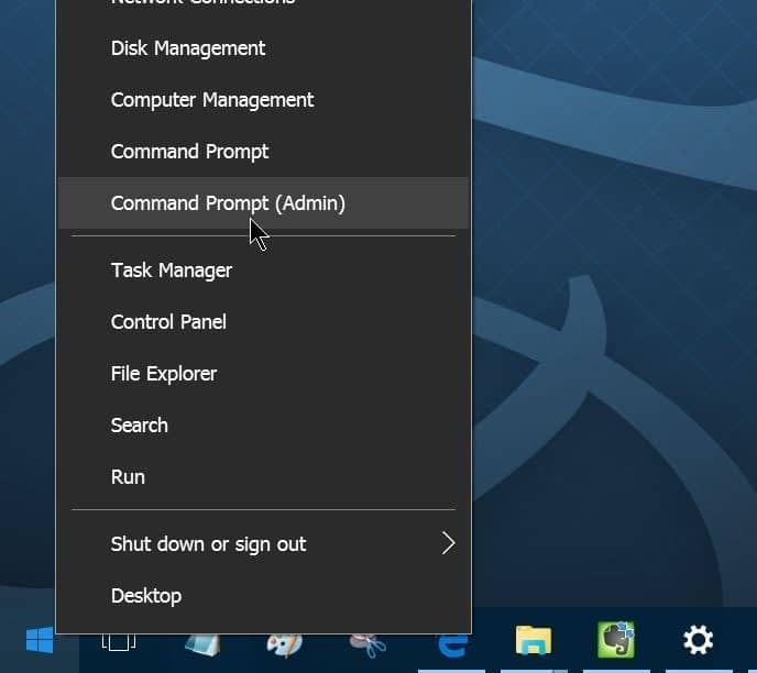 how to access command prompt in win 10