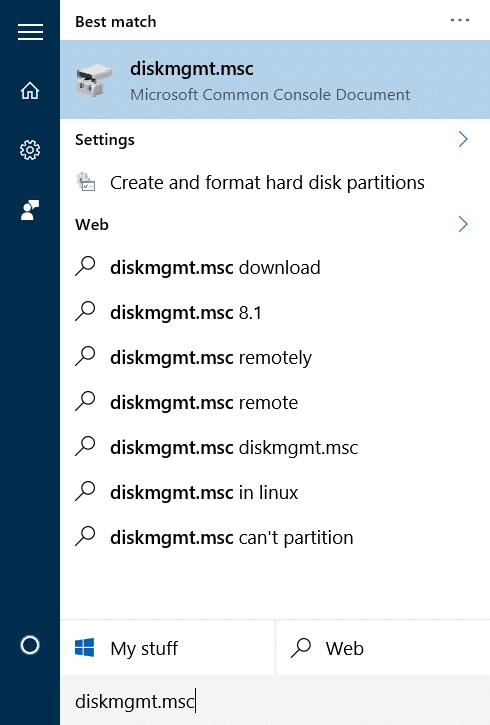 Shrink volume or partition in Windows 10 step01