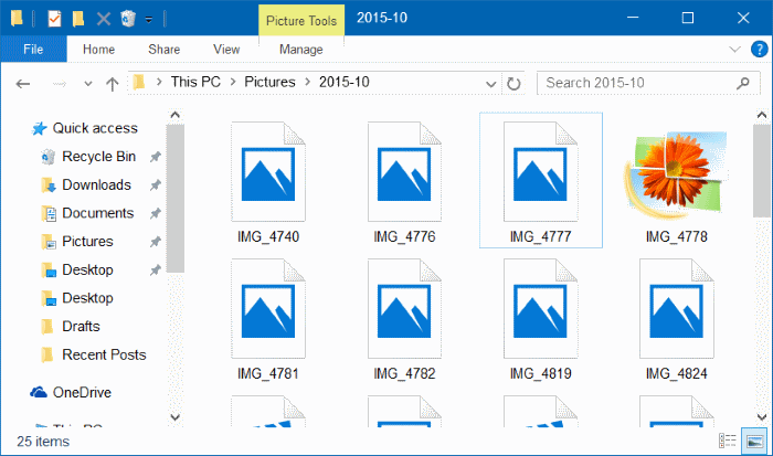 Thumbnails now showing in Windows 10 file explorer