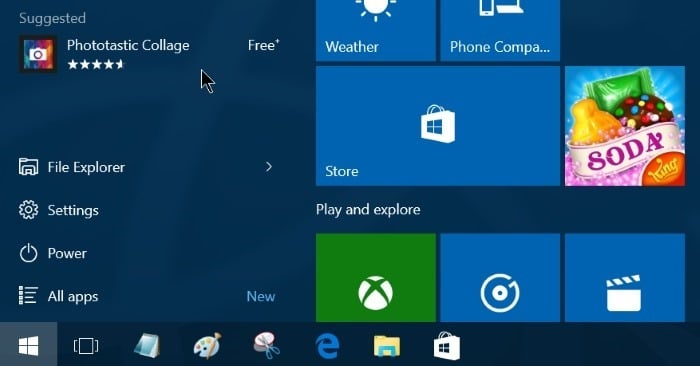 Turn off app suggestions in start menu Windows 10 pic4