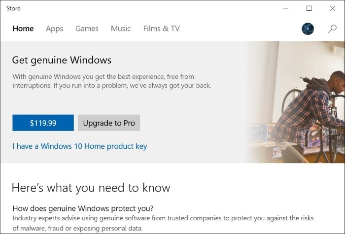 Upgrade Windows 10 Home to Pro Step4
