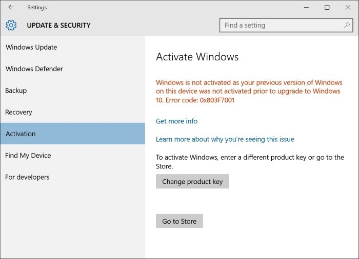 Upgrade Windows 10 Home to Pro without key step3