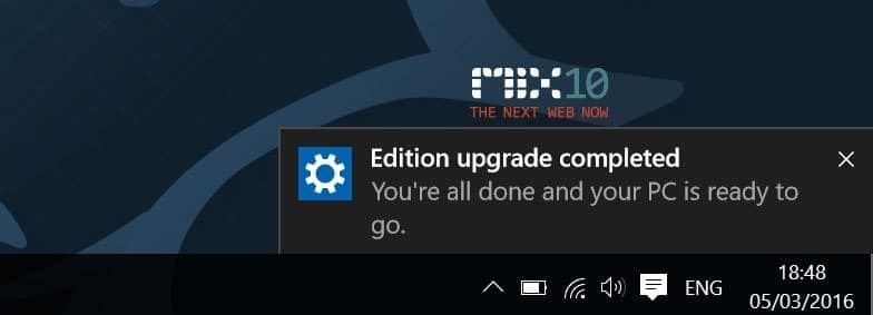 Upgrade Windows 10 Home to Pro without key step9