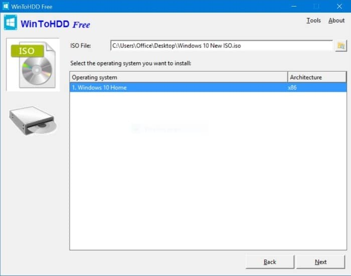WinToHDD free download for Windows 10
