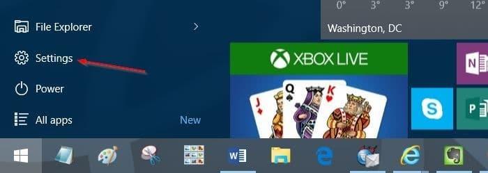 add another column to Start menu in Windows 10 step1