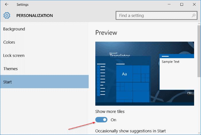 add another column to Start menu in Windows 10 step4