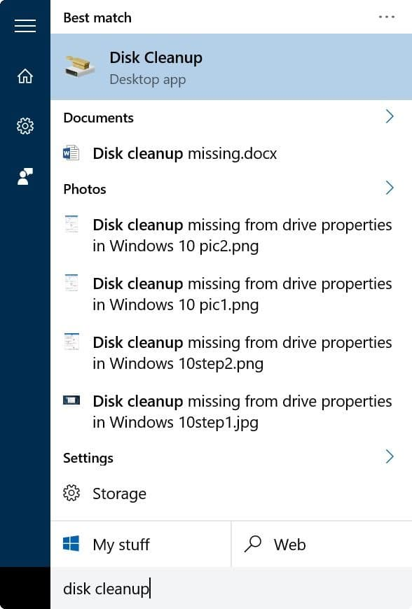 clear and reset thumbnail cache in Windows 10 step1