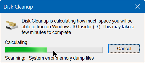 clear and reset thumbnail cache in Windows 10 step3