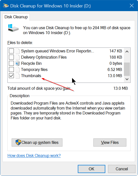 clear and reset thumbnail cache in Windows 10 step4