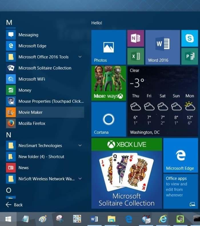 create desktop shortcut to program in Windows 10 step1