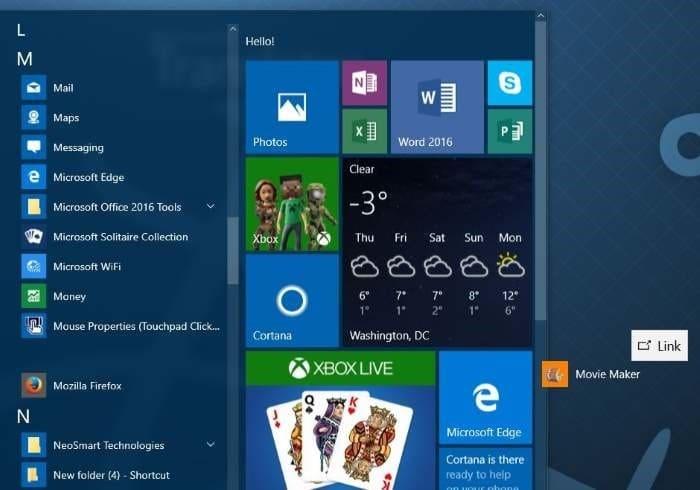 create desktop shortcut to program in Windows 10 step2